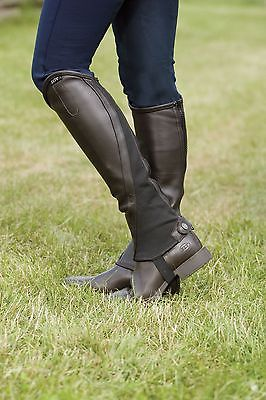 Elt Elegance Half Chaps Brown Medium Leather Imported From Germany