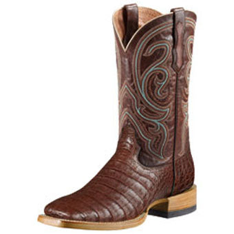 Ariat Men's Stillwater Antique Caiman Belly Old West Brown