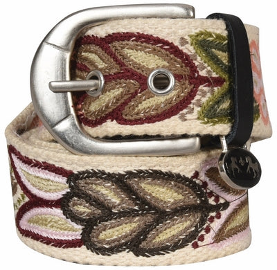 Equine Couture Delilah Cottom Belt Ecru Size Large