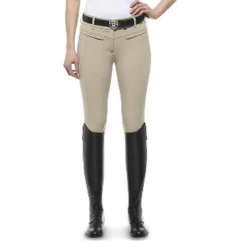 Ariat Women's Triumph Low Rise Knee Patch Breeches Tan