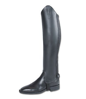 ELT Paris Professional Black Leather Half Chaps (H53cm, W36cm)