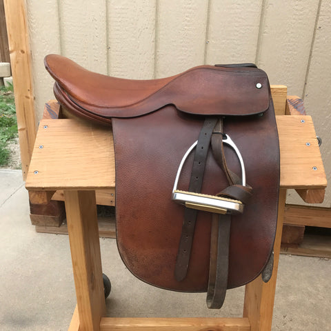 "Used Crump Co Saddle Seat Saddle 19.5"" Medium Tree"