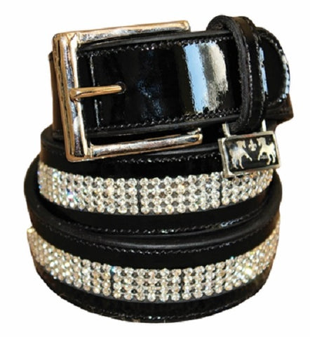 Equine Couture Bling Patent Leather Belt