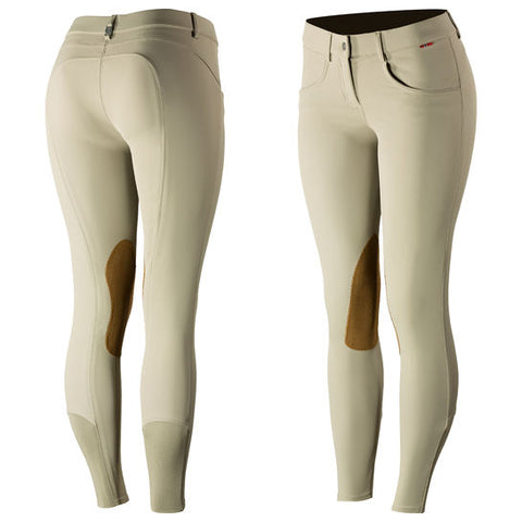 B Vertigo Melissa Women's Leather Knee Patch Breeches