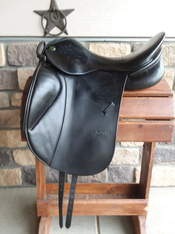 Used KB Santis Dressage Saddle Seat 18 1/2""