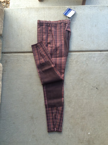 ELT Lifestyle Full Seat Breeches Brown/Rose 30