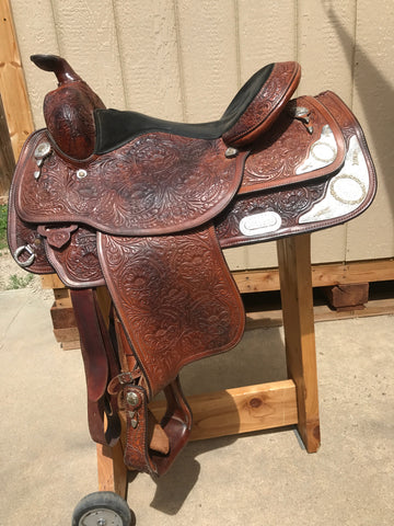 "Usd Circle Y Equitation Western Saddle 15"" Full Bars"