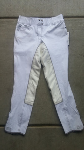 BLEMISHED Goode Rider Jean Rider Full Seat Breech White Denim 26R $179