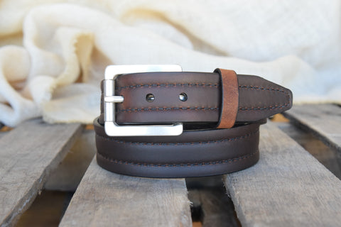 Lejon Men's Parker Saddle Leather Belt