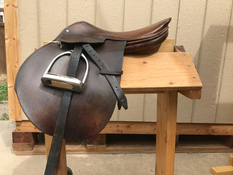 "Used BT Crump Prix De Saute Jump Saddle 16"" Seat Medium Tree"