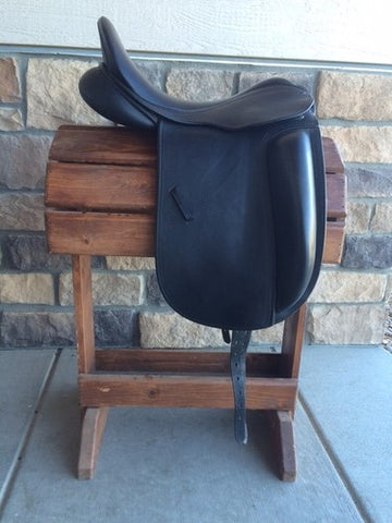 "Used County Fusion Dressage Saddle 17.5"" Seat XX Wide Tree"