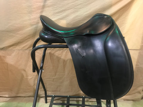 "Used Bates Caprilli 17.5"" Dressage Saddle With Cair"