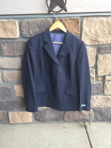 BLEMISHED RJ Classics Show Jacket Navy Plaid 8 Regular $169 D8251