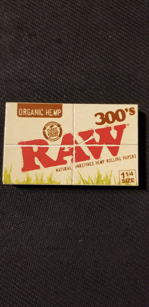Raw 300/Book  1¼ Organic Rolling Papers