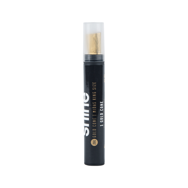 Shine 24k Gold King Size Cone - Gold