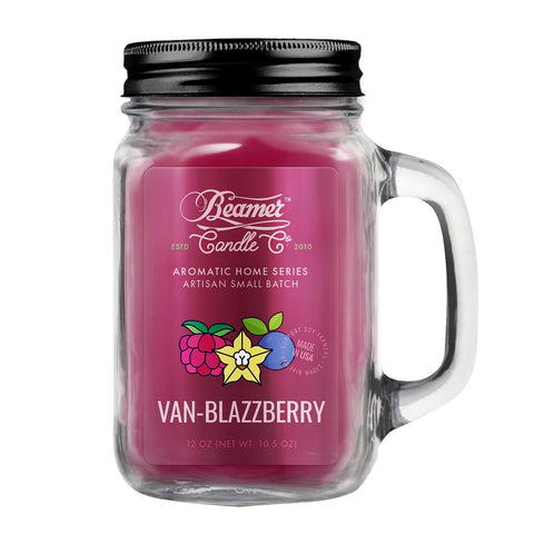 Beamer Candle Co. 12oz Glass Mason Jar