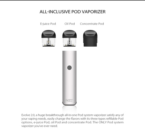 Evolve 2.0 Open Pod System by Yocan 19+ *Discontinued*
