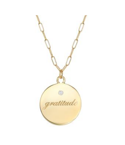 Gratitude Medallion Necklace