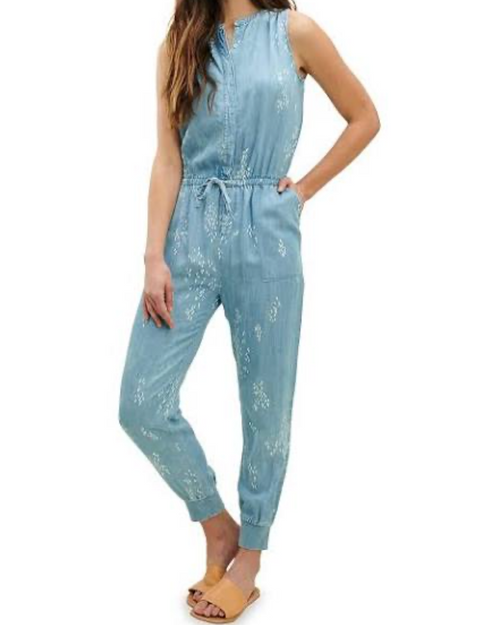 Wildflower Jumpsuit in Chambray