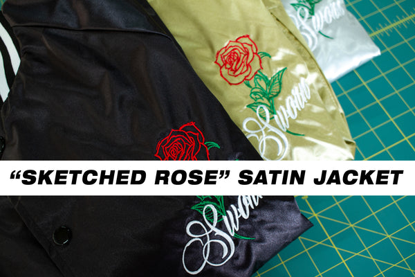 BTS: Sketched Rose Satin Jacket