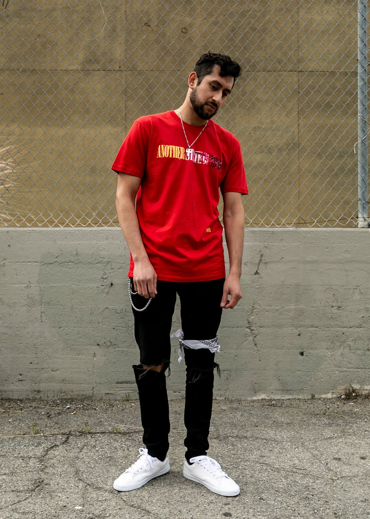 Another State of Mind Red Tee Front Sworn To Us