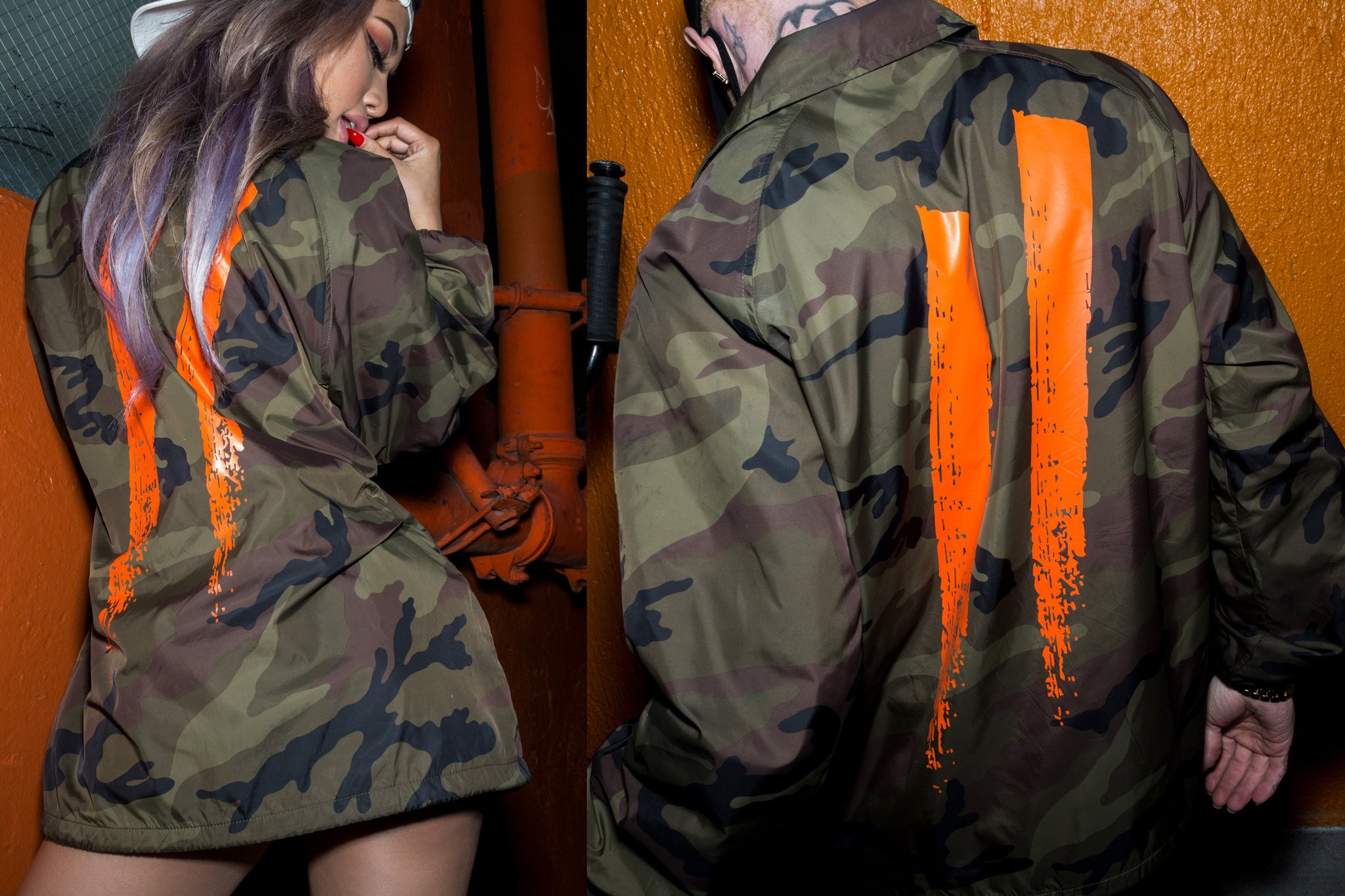 Sworn To Us // Camouflage Coaches Jacket