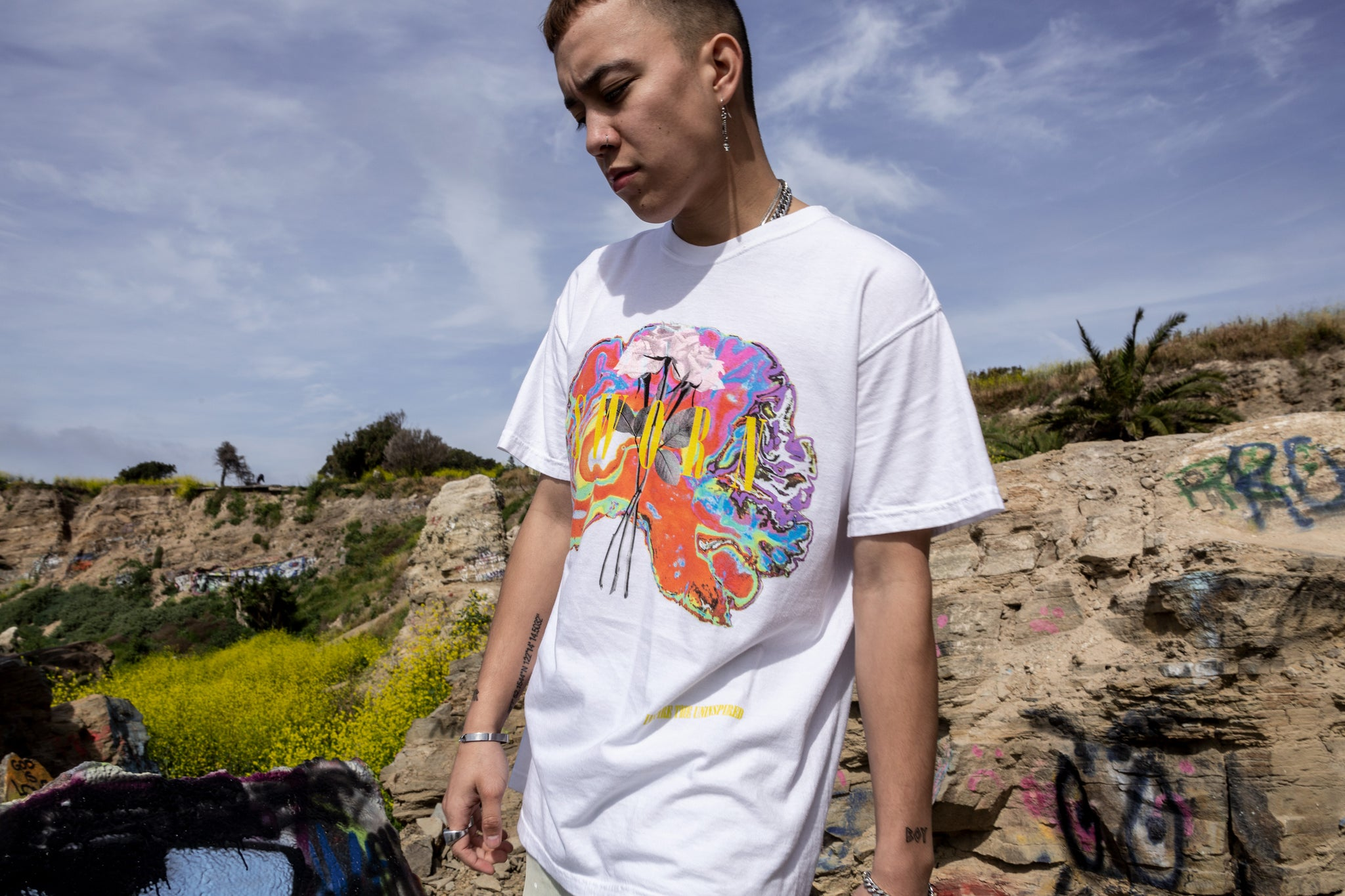 Sworn Euphoria Tee White Front