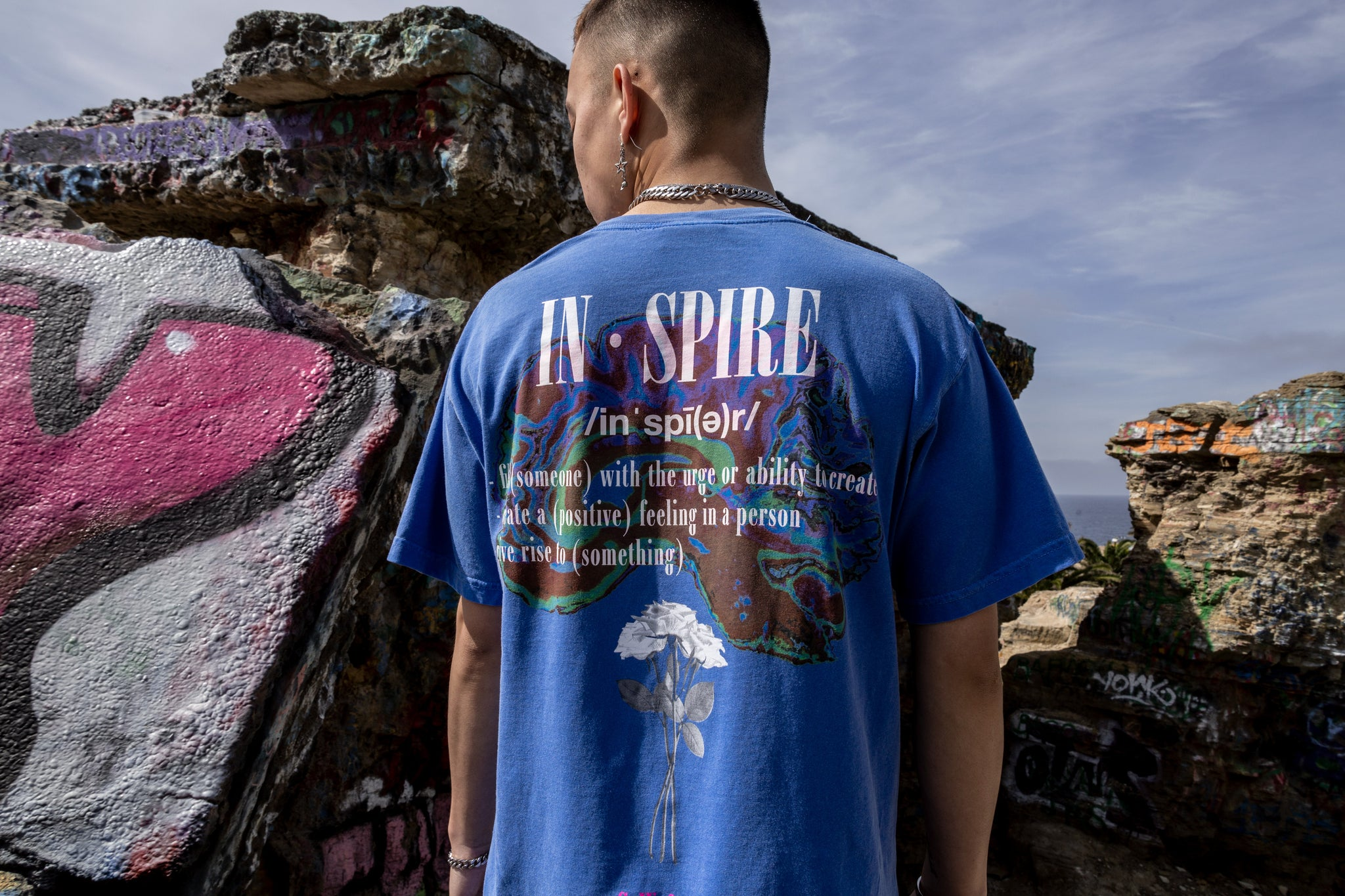 Sworn Euphoria Tee Royal Back