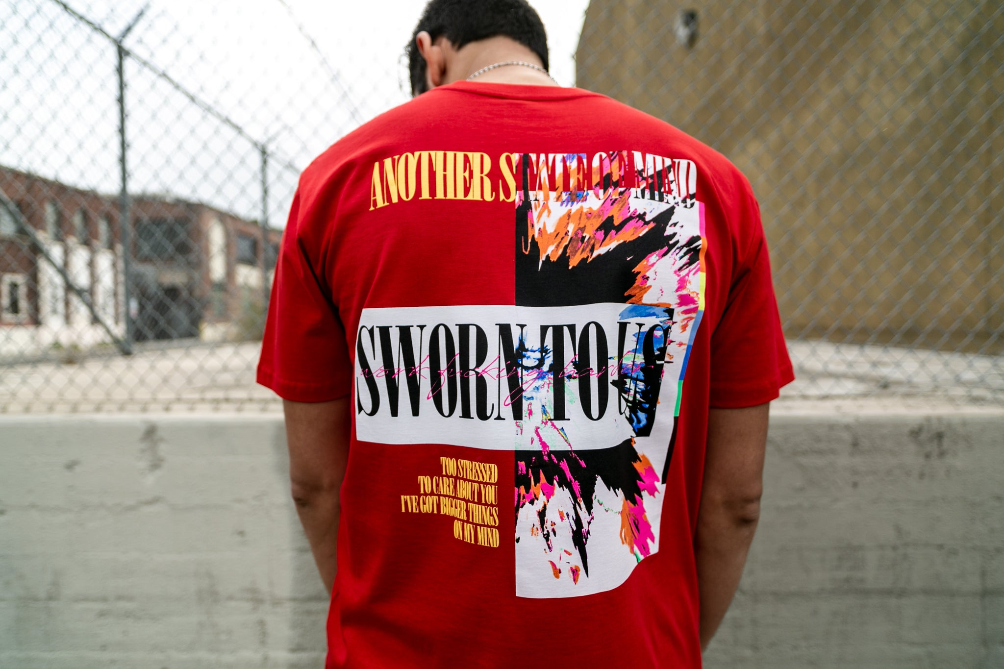 Another State of Mind Red Tee Back Sworn To Us