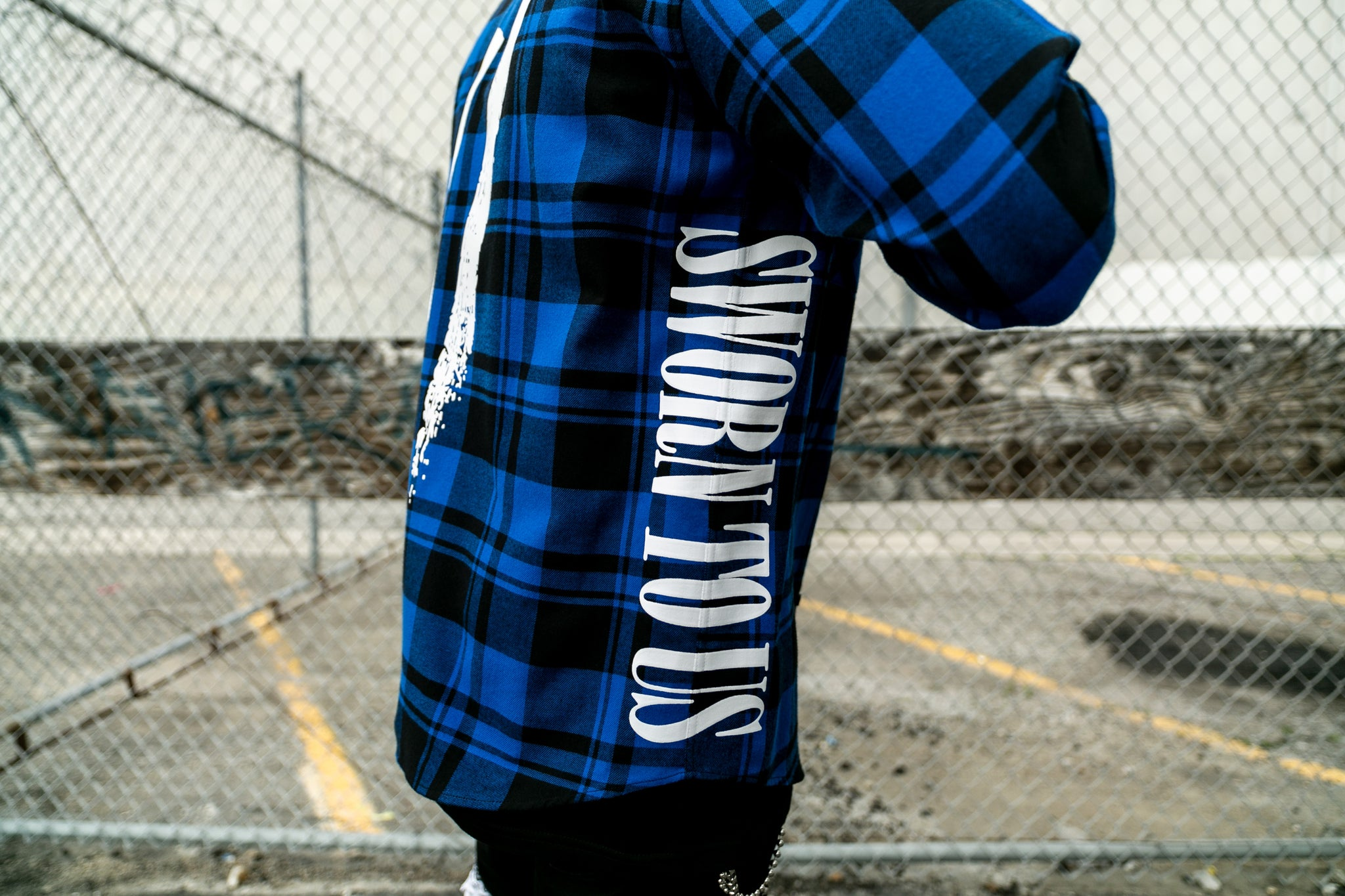Another State of Mind Flannel Royal Side Sworn To Us
