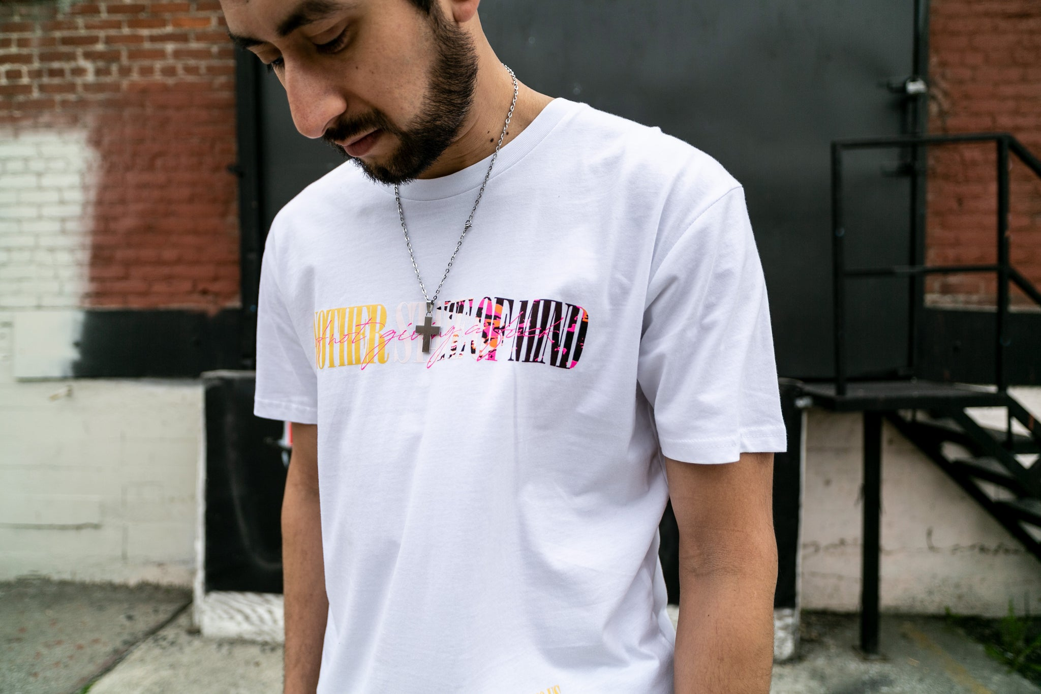 Another State of Mind Tee White Front Sworn To Us