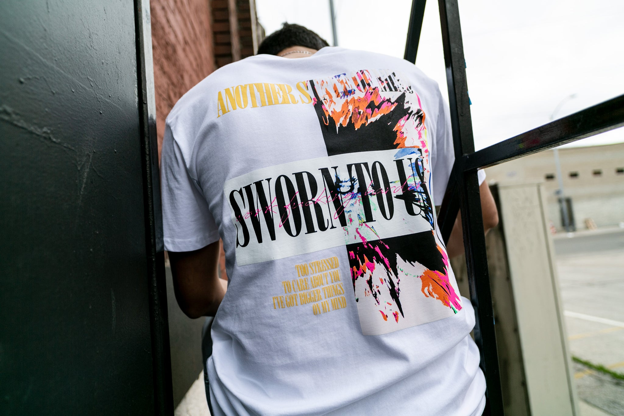 Another State of Mind Tee White Back Sworn To Us