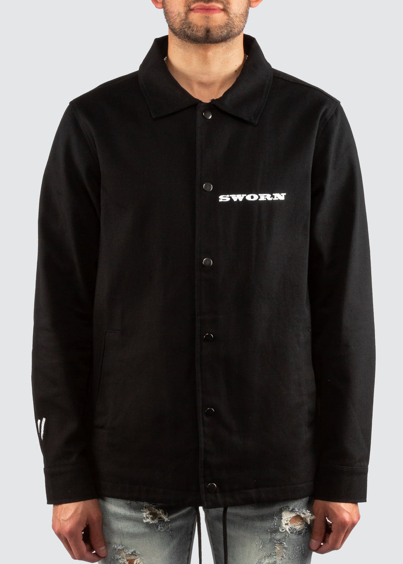 Mustang Coaches Jacket // Black