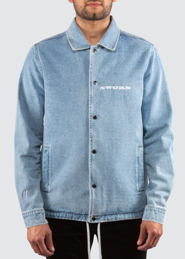 Mustang Coaches Jacket // Denim Blue
