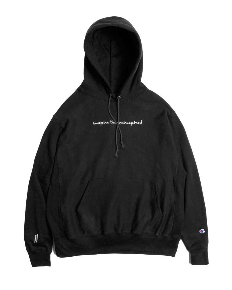 Sworn x Champion Reverse Weave Hoodie // Black & White