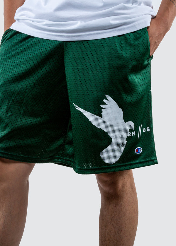 Champion Motion Court Shorts // Forest Green