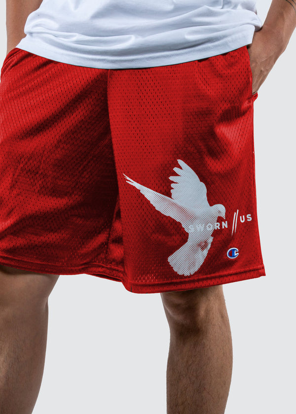 Champion Motion Court Shorts // Red
