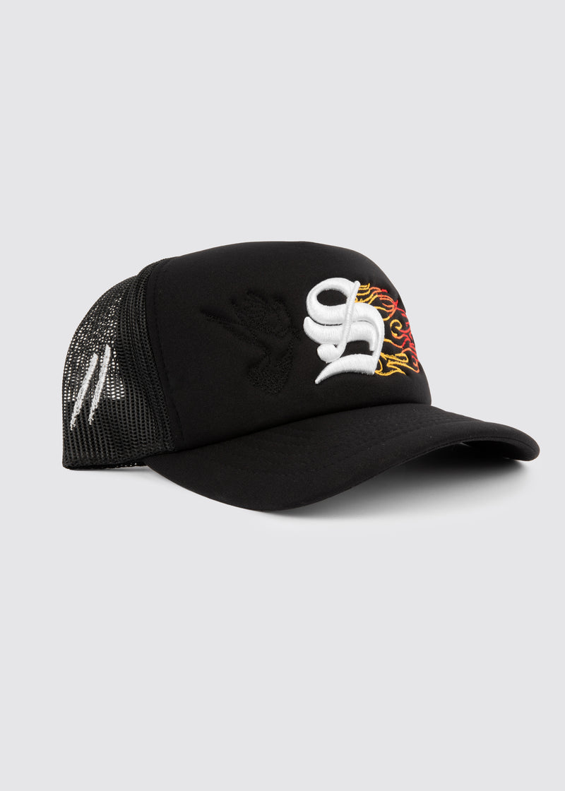 Inferno Foam Trucker Hat // Black