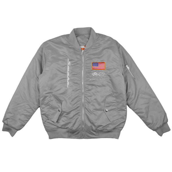 Heavyweight MA-1 Flight Jacket // Silver
