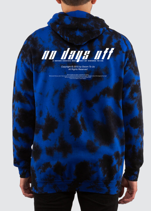 No Days Off Crystal Wash Hoodie // Royal