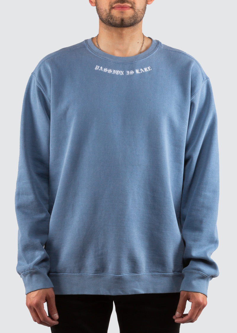 Passion Is Rare Crewneck Sweater // Powder Blue