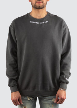 Passion Is Rare Crewneck Sweater // Washed Grey