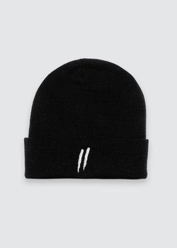 Signature Slash Cuff Beanie // Black