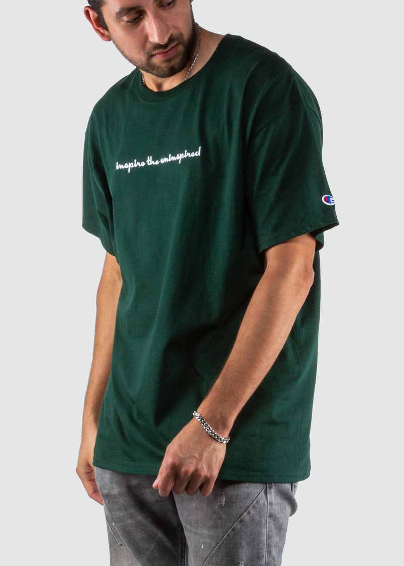 Sworn x Champion Tee // Forest Green