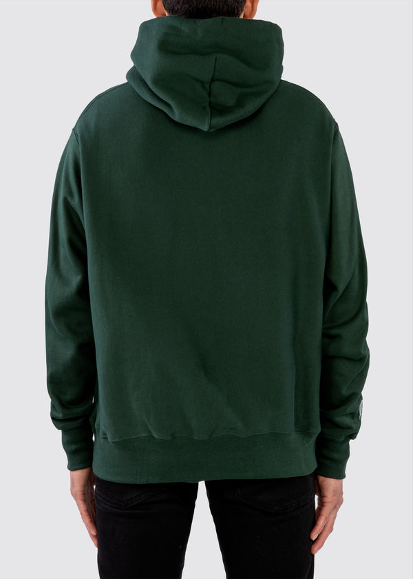 Sworn x Champion Reverse Weave Hoodie // Forest Green