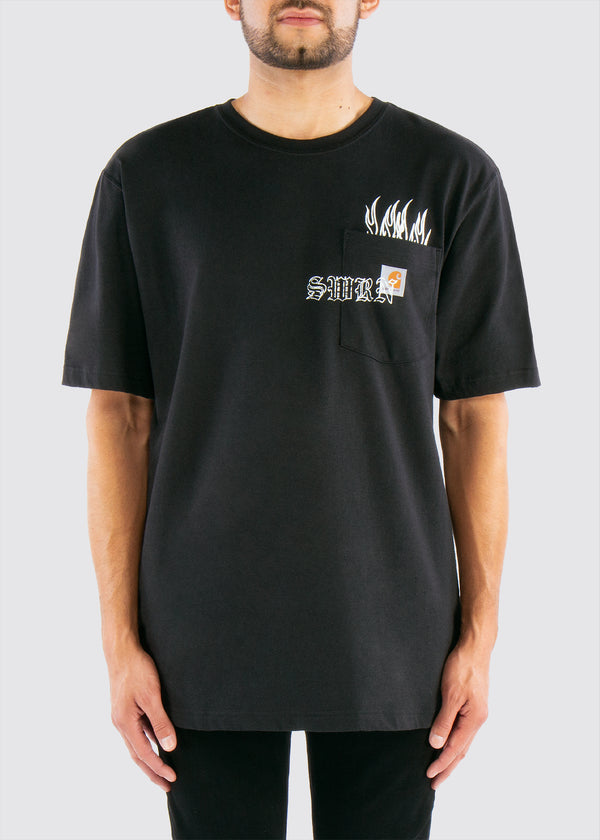 Sworn x Carhartt Pocket Tee // Black