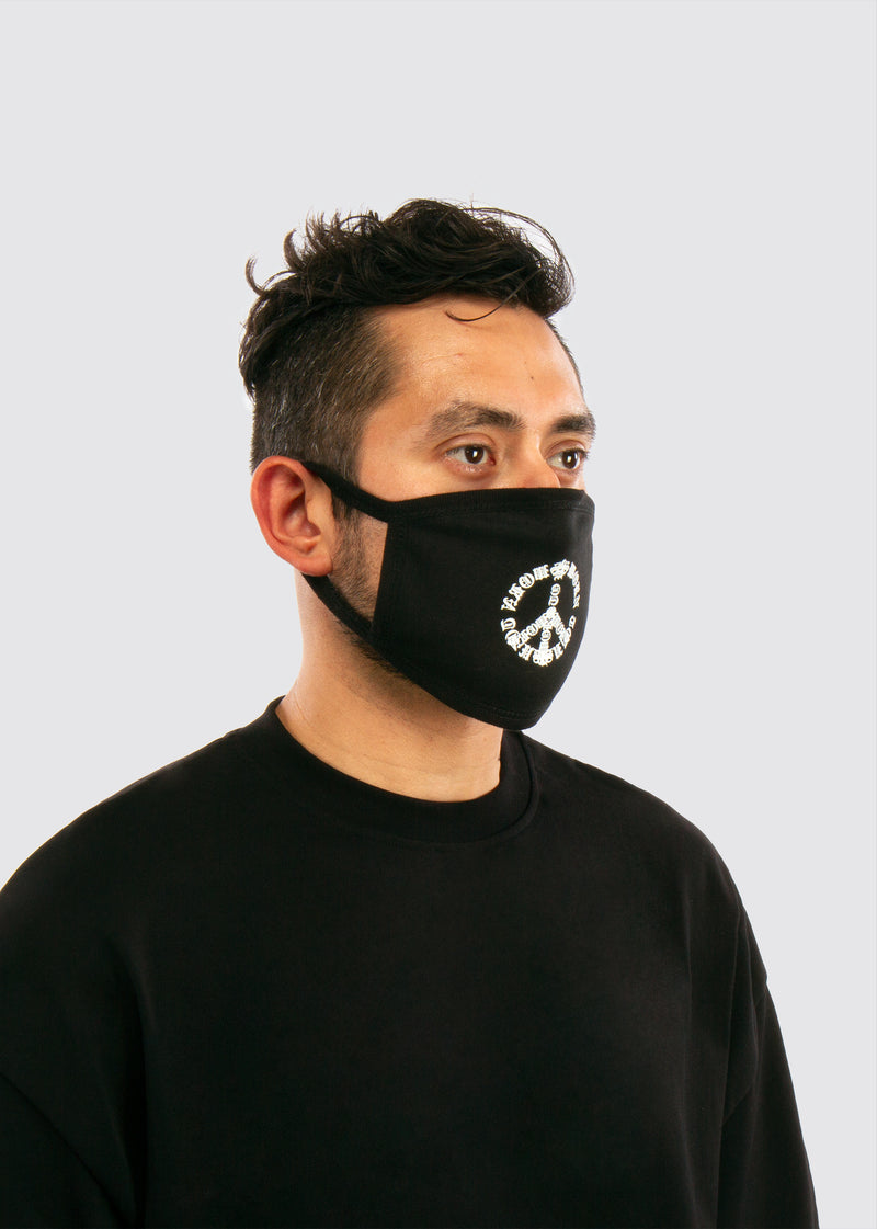 Passion & Peace Mouth Mask // Black