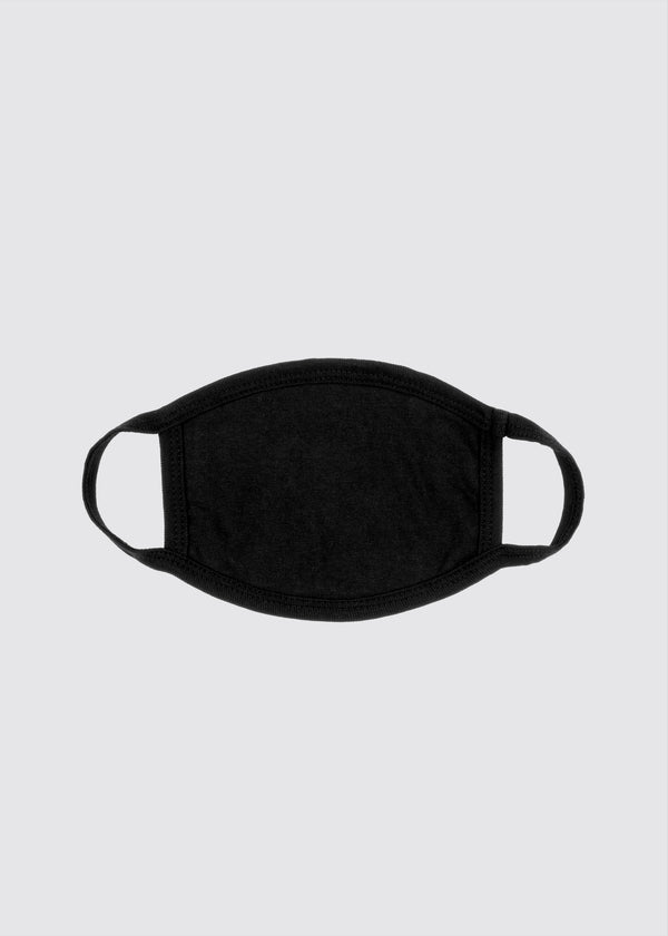 Signature Slash Mouth Mask // Black
