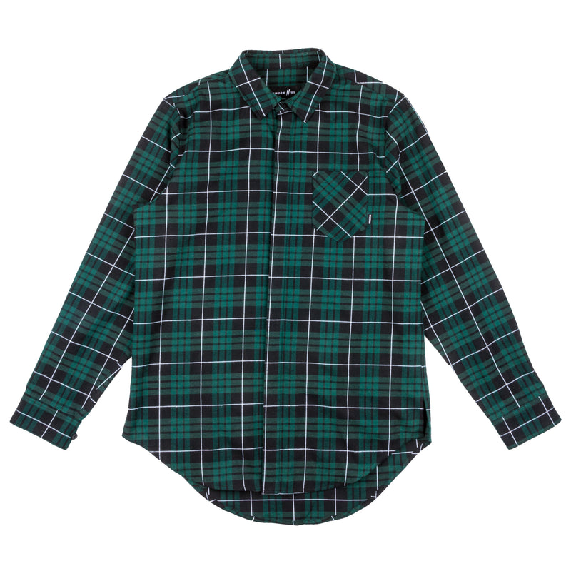 Signature Slash Flannel // Forest Green