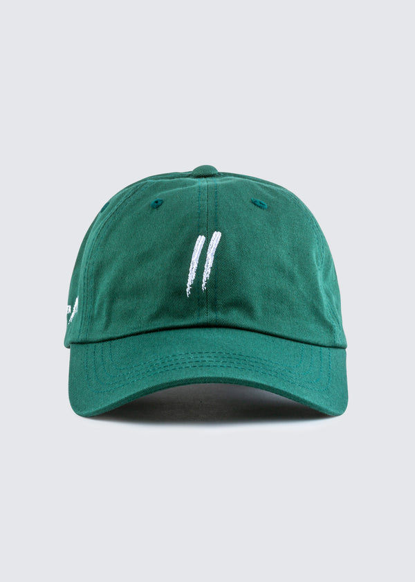 Signature Slash Dad Hat // Forest Green